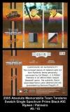 2005 Absolute Memorabilia Team Tandems Swatch Single Spectrum Prime Black #35