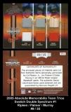2005 Absolute Memorabilia Team Trios Swatch Double Spectrum #1