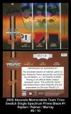 2005 Absolute Memorabilia Team Trios Swatch Single Spectrum Prime Black #1