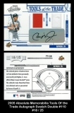 2005 Absolute Memorabilia Tools of the Trade Autograph Swatch Double #110
