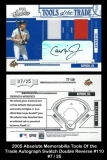 2005 Absolute Memorabilia Tools of the Trade Autograph Swatch Double Reverse #110