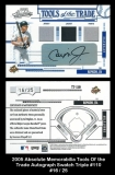 2005 Absolute Memorabilia Tools of the Trade Autograph Swatch Triple #110