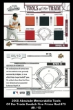 2005 Absolute Memorabilia Tools of the Trade Swatch Five Prime Red #73