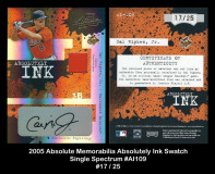 2005-Absolute-Memorabilia-Absolutely-Ink-Single-Swatch-Spectrum-AI109