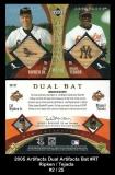 2005 Artifacts Dual Artifacts Bat #RT