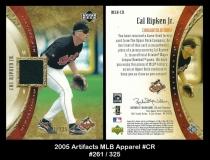 2005 Artifacts MLB Apparel #CR