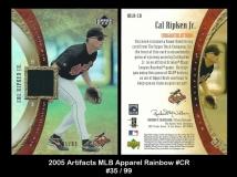 2005 Artifacts MLB Apparel Rainbow #CR