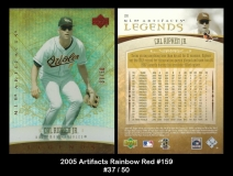 2005 Artifacts Rainbow Red #159
