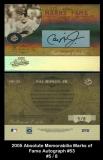 2005 Absolute Memorabilia Marks of Fame Autograph #53