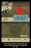 2005 Absolute Memorabilia Marks of Fame Autograph Swatch Single #53