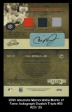 2005 Absolute Memorabilia Marks of Fame Autograph Swatch Triple #53