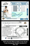 2005 Absolute Memorabilia Tools of the Trade Autograph Swatch Double #73
