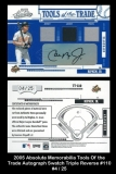 2005 Absolute Memorabilia Tools of the Trade Autograph Swatch Triple Reverse #110