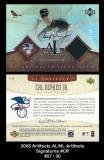2005 Artifacts AL NL Artifacts Signatures #CR