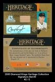 2005 Diamond Kings Heritage Collection Signature Bat #3