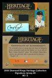 2005 Diamond Kings Heritage Collection Signature Jersey #3