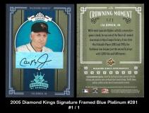 2005 Diamond Kings Signature Framed Blue Platinum #281