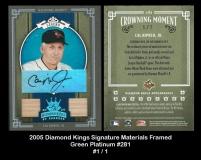 2005 Diamond Kings Signature Framed Green Platinum #281