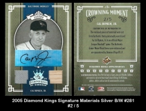 2005 Diamond Kings Signature Materials Silver BW -1