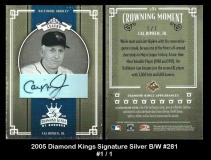 2005 Diamond Kings Signature Silver BW #281