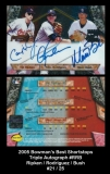 2005 Bowman's Best Shortstops Triple Autograph #RRB
