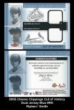 2005 Classic Clippings Cut of History Dual Jersey Blue #RS