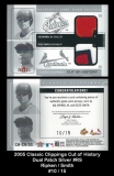 2005 Classic Clippings Cut of History Dual Patch Silver #RS