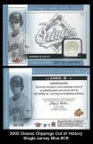 2005 Classic Clippings Cut of History Single Jersey Blue #CR