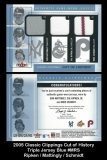 2005 Classic Clippings Cut of History Triple Jersey Blue #MRS