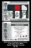 2005 Classic Clippings Cut of History Triple Patch Silver #MRS
