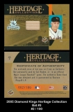 2005 Diamond Kings Heritage Collection Bat #3