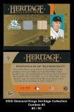 2005 Diamond Kings Heritage Collection Combos #3
