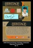 2005 Diamond Kings Heritage Collection Signature Combos #3