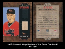 2005 Diamond Kings Masters of the Game Combos #2