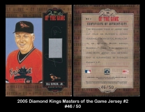 2005 Diamond Kings Masters of the Game Jersey #2