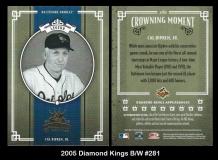 2005 Diamond Kings BW #281