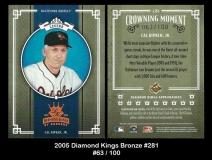 2005 Diamond Kings Bronze #281