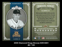 2005 Diamond Kings Bronze BW #281