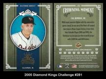 2005 Diamond Kings Challenge #281