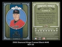 2005 Diamond Kings Framed Black #448