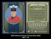 2005 Diamond Kings Framed Blue #448