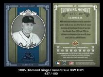 2005 Diamond Kings Framed Blue BW #281