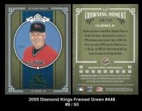 2005 Diamond Kings Framed Green #448