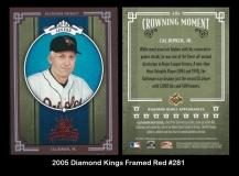2005 Diamond Kings Framed Red #281