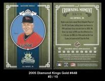 2005 Diamond Kings Gold #448