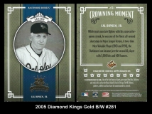 2005 Diamond Kings Gold BW #281