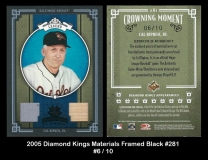 2005 Diamond Kings Materials Framed Black #281