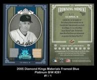 2005 Diamond Kings Materials Framed Blue Platinum BW #281