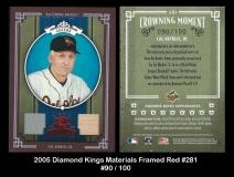2005 Diamond Kings Materials Framed Red #281