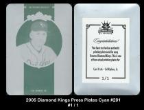 2005 Diamond Kings Press Plates Cyan #281